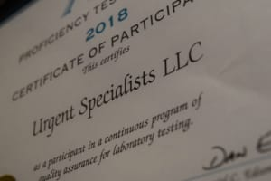 Urgent Specialists Certificate of Participation