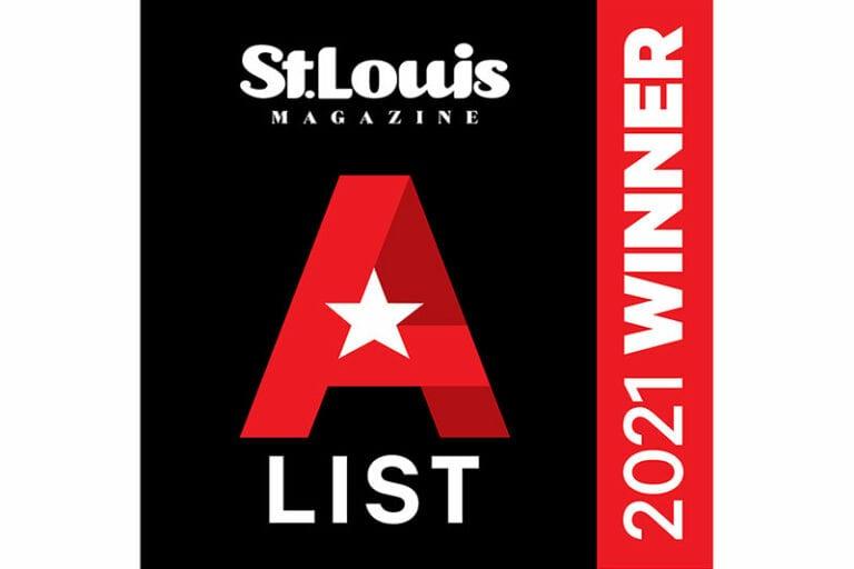 St Louis Magazine Best Urgent Care 2021 A LIST winner badge black