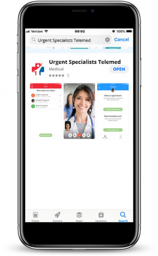 Urgent Specialists Telemedicine App 1