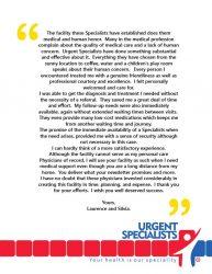 Urgent Specialists Testimonials Combo 1